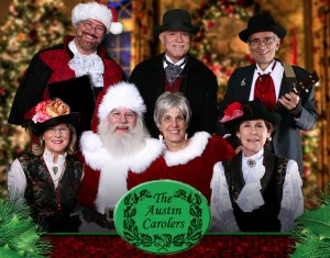 The Austin Carolers with Mr. & Mrs. Claus, 2011.